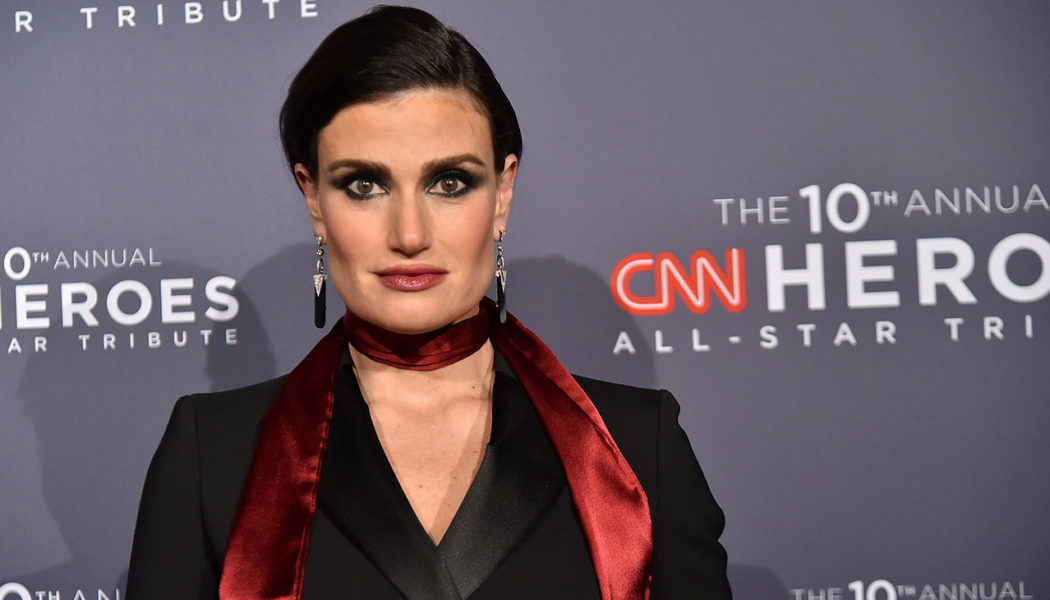 Idina Menzel Falls Victim to Perils of Ripped Denim, Discovers Panties Hanging Through Hole