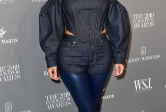 Kim Kardashian's Latest Look Just Took the Canadian Tuxedo to Another Level